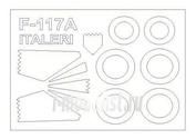 72650 KV Models 1/72 Набор окрасочных масок для остекления модели F-117A Nighthawk + маски на диски и колеса