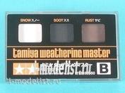 87080 Tamiya Тонировка для моделей, набор B (Снег, копоть, ржавчина)