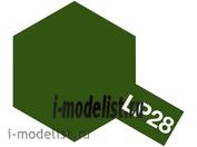 82128 Tamiya LP-28 Olive Drab (оливковая серая) Лаковая краска 10мл.