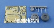 NS48002  North Star 1/48 Main and tail wheel and tail wheel bay set, resin and photoetching parts.