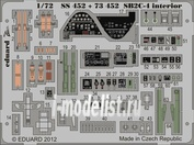 73452 Eduard 1/72 Фототравление для SB2C-4 S.A.