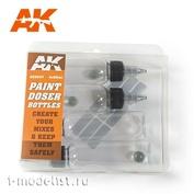 AK9047 AK Interactive Набор из четырех бутылок по 60 мл с дозатором и удобной винтовой крышкой.