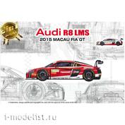 PN24024 NuNu 1/24 Audi R8 LMS GT3 2015 FIA GT3 World Cup