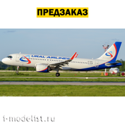 7037P1 PRE-ORDER Zvezda 1/144 Passenger Airliner Airbus A320NEO + wheels and decal Ural Airlines