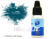 TH06 Pacific88 Thinner diluent for acrylic paints cinnamon 10ml.
