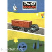 11-12/1976 Maly Modelarz Бумажная модель Грузовик