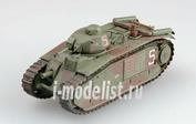 36158 Easy model 1/72 Собранная и покрашенная модель   танк B-1bis, Франция, s/n 323 VAR, июнь 1940г.