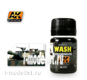 AK075 AK Interactive Смывка для нанесения эффектов WASH FOR NATO TANKS (танки НАТО)