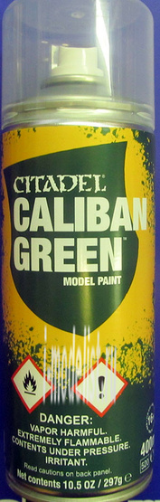 62-17 Warhammer 40.000 Спрей-грунтовка Зеленый Калибан (Caliban Green Spray)