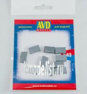 AVD143011510 AVD Models 1/43 Чемодан жесткий, 10 шт