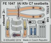 FE1047 Eduard 1/48 Фототравление для IAI Kfir C7 стальные ремни