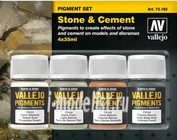 73192 Vallejo Set of dry pigments - Stone, Cement, Architecture / 4cv.