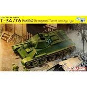 6424 Dragon 1/35 Танк Т-34/76 образца 1942 г. Hexagonal Turret Soft Edge Type