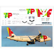 320-44 PasDecals 1/144 Decal for 320 NEO TAP PORTUGAL