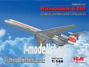 14406 ICM 1/144 Пассажирский самолет ВВС Германии Ильюшин-62М