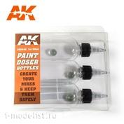 AK-9048 AK Interactive Набор из трех бутылок по 100 мл с дозатором и удобной винтовой крышкой.