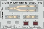 33245 Eduard 1/32 Набор фототравления для P-40N стальные ремни