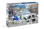3655 Italeri 1/24 АВТОМОБИЛЬ FORD ESCORT RS1800 Mk.ll