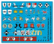 ep 902 Peddinghaus-decals 1/72 Декаль german submarine heraldic, unit markings and flags