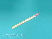 70117 tammiya Plastic rods (triangular white matte) side 3 mm, length 40 cm (8 PCs)