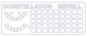 14497 KV Models 1/144 Набор окрасочных масок для остекления модели L-1049 / C-121 Constellation