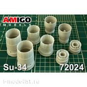 AMG72024 Amigo Models 1/72 Сопло двигателя АЛ-31Ф для Суххой-34