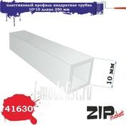 41630 ZIPmaket Пластиковый профиль квадратная трубка 10*10 длина 250 мм