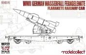 UA72172 Modelcollect 1/72 WWII German Wasserfall Ferngelenkte Flakrakete Railway Car