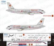 319-007 Ascensio 1/144 Декаль на самолет Arbus A319 (СЛО Россия)