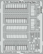 72701 Eduard photo etched parts for 1/72 Hurricane Mk. IIc flaps