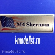 T172 Plate Plate for M4 Sherman 60x20 mm, color gold