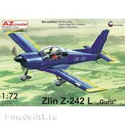 AZ7609 AZ Model 1/72 Самолет Zlin Z-242L
