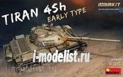 37021 MiniArt 1/35 Израильский танк Tiran 4 ранний с интерьером