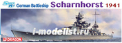 1036 Dragon 1/350 German Battleship Scharnhorst 1941 - Smart Kit