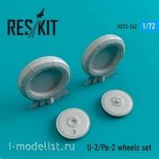 RS72-0242 RESKIT 1/72 Смоляные колеса для У-2/По-2