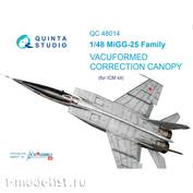 QC48014 Quinta Studio 1/48 Набор остекления коррекционный МiGG-25 (для модели ICM)