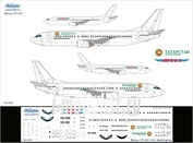 734-005 Ascensio 1/144 Декаль на самолет боенг 737-400 (Ямл/Татарстн)