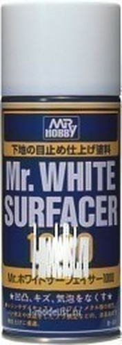 B-511 Gunze Sangyo Primer-spray Mr. White Surfacer 1000 (white). Volume: 170 ml.