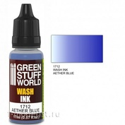 1712 Green Stuff World Flush Color Blue 17ml / Wash Ink AETHER BLUE