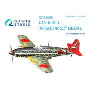 QD32066 Quinta Studio 1/32 3D Cabin Interior Decal Ki-61-I (for Hasegawa model)