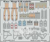 49671 Eduard 1/48 Фототравление для Mirage F.1B seatbelts