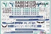 pas001 PasDecals 1/144 Decals on Ilyushin-86 Vaso Airlines