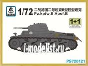 PS720121 S-Model 1/72 Pz.Kpfw.II Ausf.B