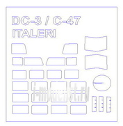 72188 KV Models 1/72 Маска для DC-3/ C-47