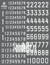 V35008 Победа 1/35 Сухая декаль Цифры для бронетехники. Вариант 1. Высота: 5,04/5,76/9,36 мм. СССР, Россия, другие страны.
