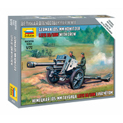 6121 Zvezda 1/72 German 105mm howitzer with calculation (For the game