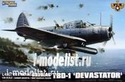 L4807 Great Wall Hobby 1/48 Американский палубный бомбардировщик-торпедоносец TBD-1 Devastator (VT-8, Midway, 1942)