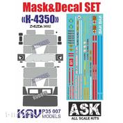 P35 007 KAV models 1/35 Set of masks and decals for K-4350