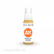 AK11033 AK Interactive Краска акриловая 3rd Generation Dark Sand 17ml