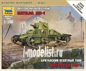 6191 Звезда 1/100 Британский пехотный танк Матильда МК-I